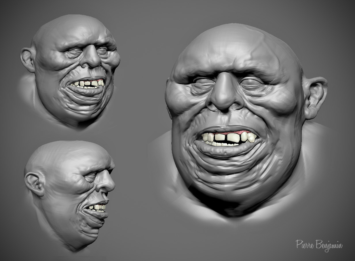 3D digital Sculpt Wip inspired by a concept by spfxpro