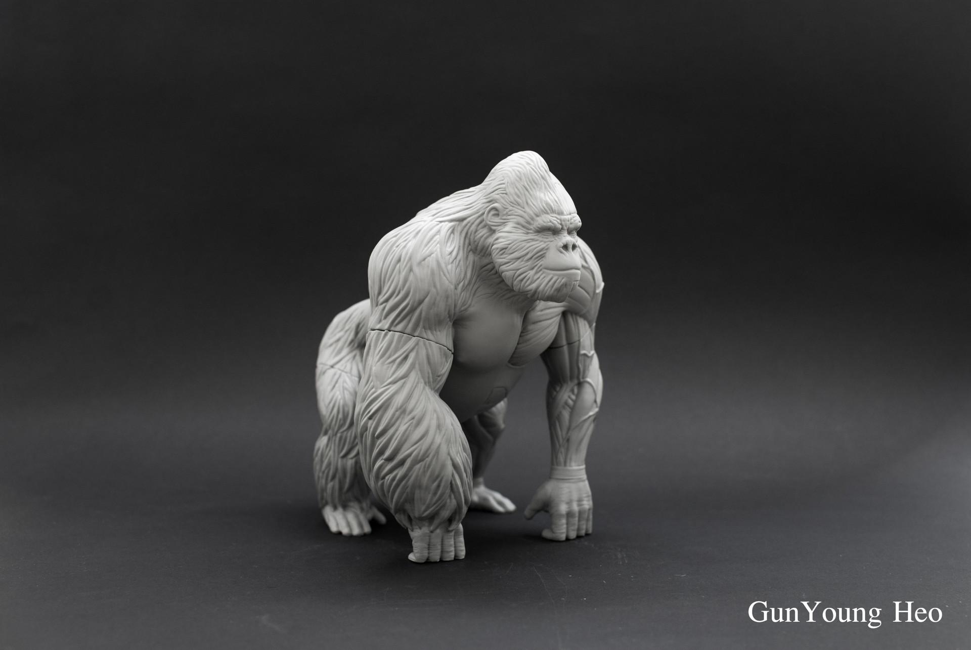 kunyoung heo - Gorilla Anatomy & 3D PRINT object