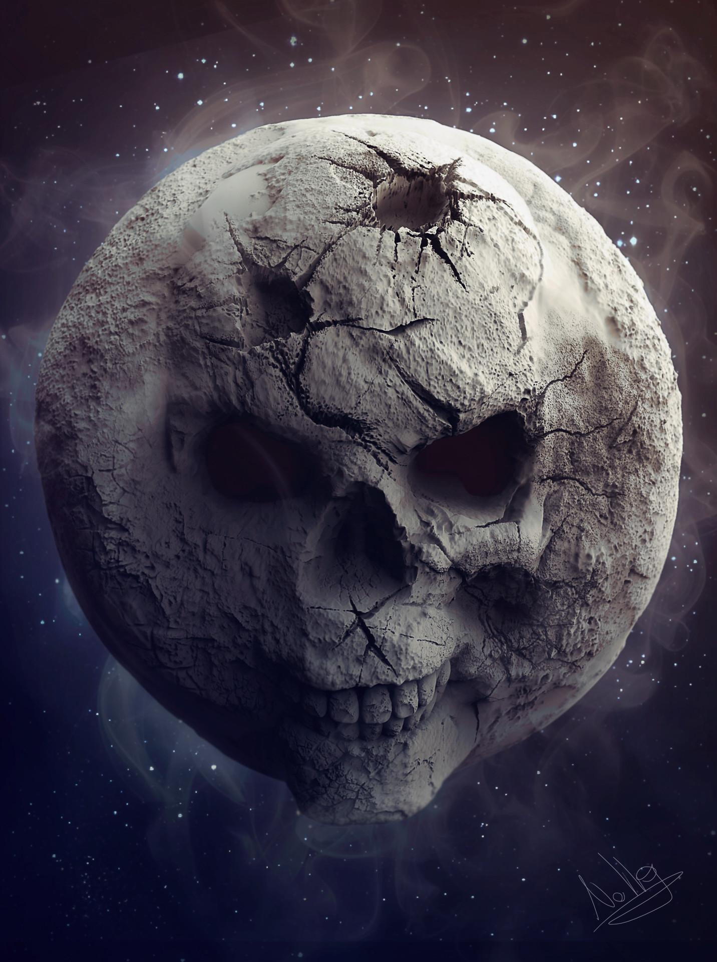 ArtStation  Skull Moon Sebastiano Di Grazia