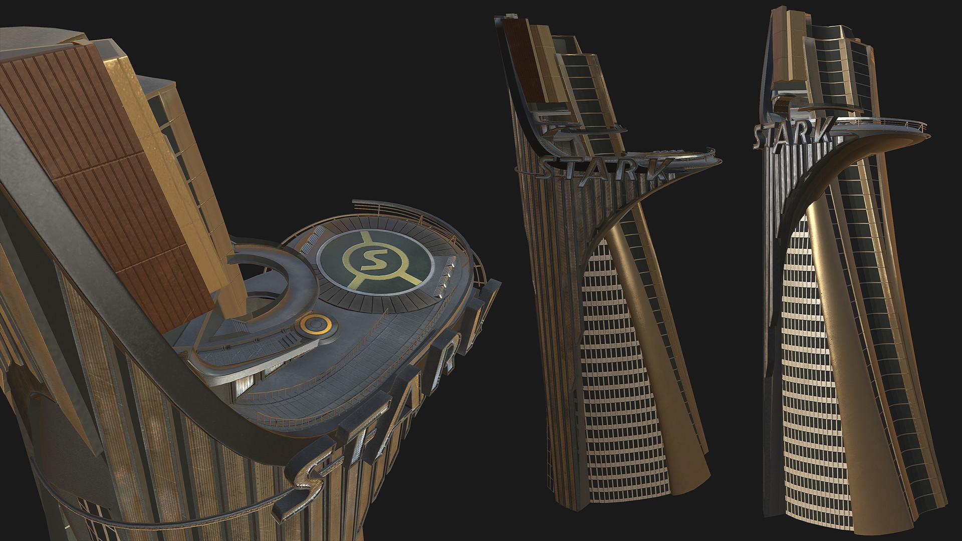 artstation stark tower the avengers fan art binh le