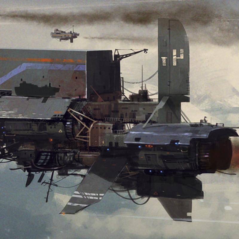 Rusty old cargo ship