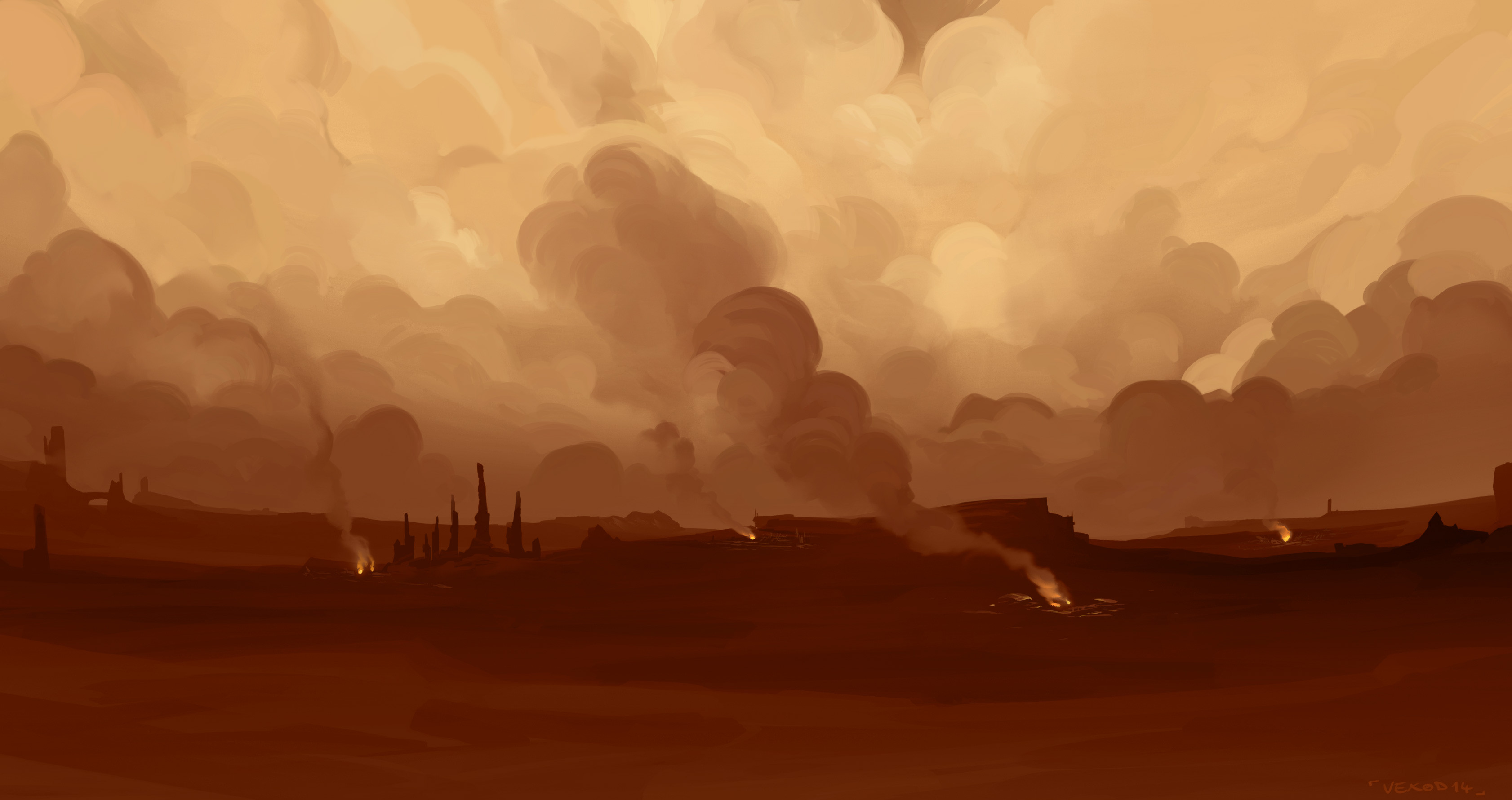 Geonosis environment background - Photoshop
