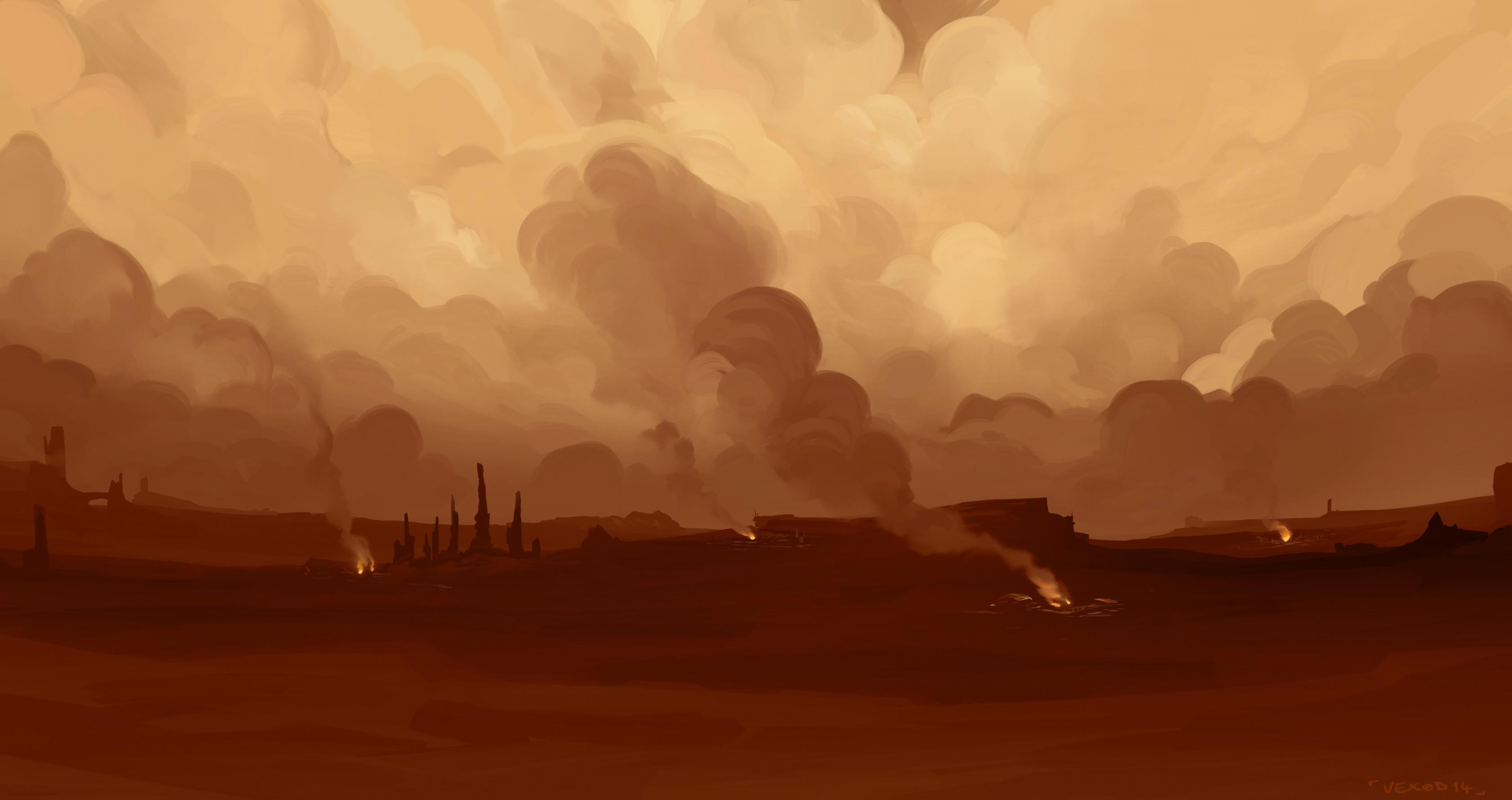 Geonosis environment background - Photoshop