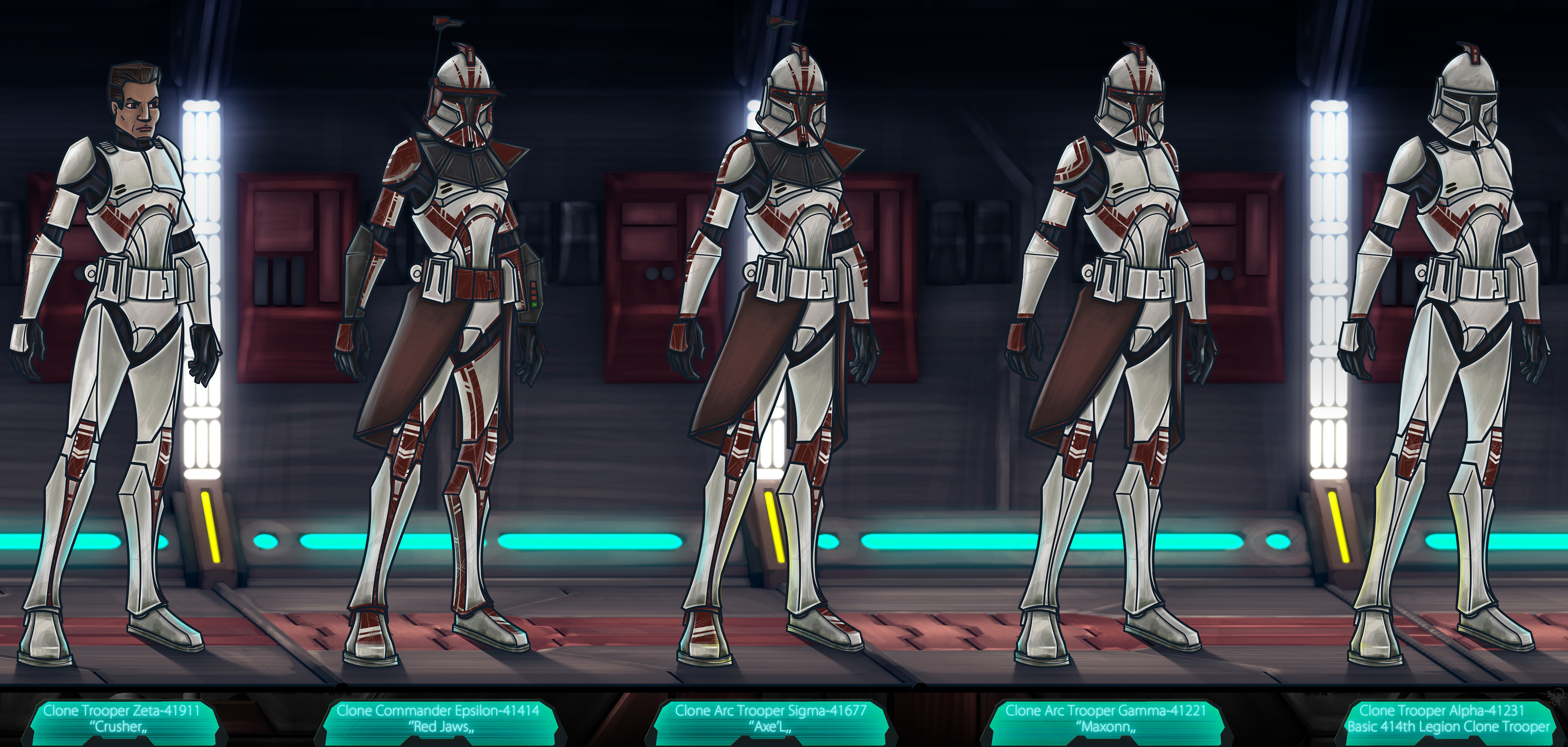414th Legion ( Mevenn's Army ) CT & ARC Troopers - Done with Mischief