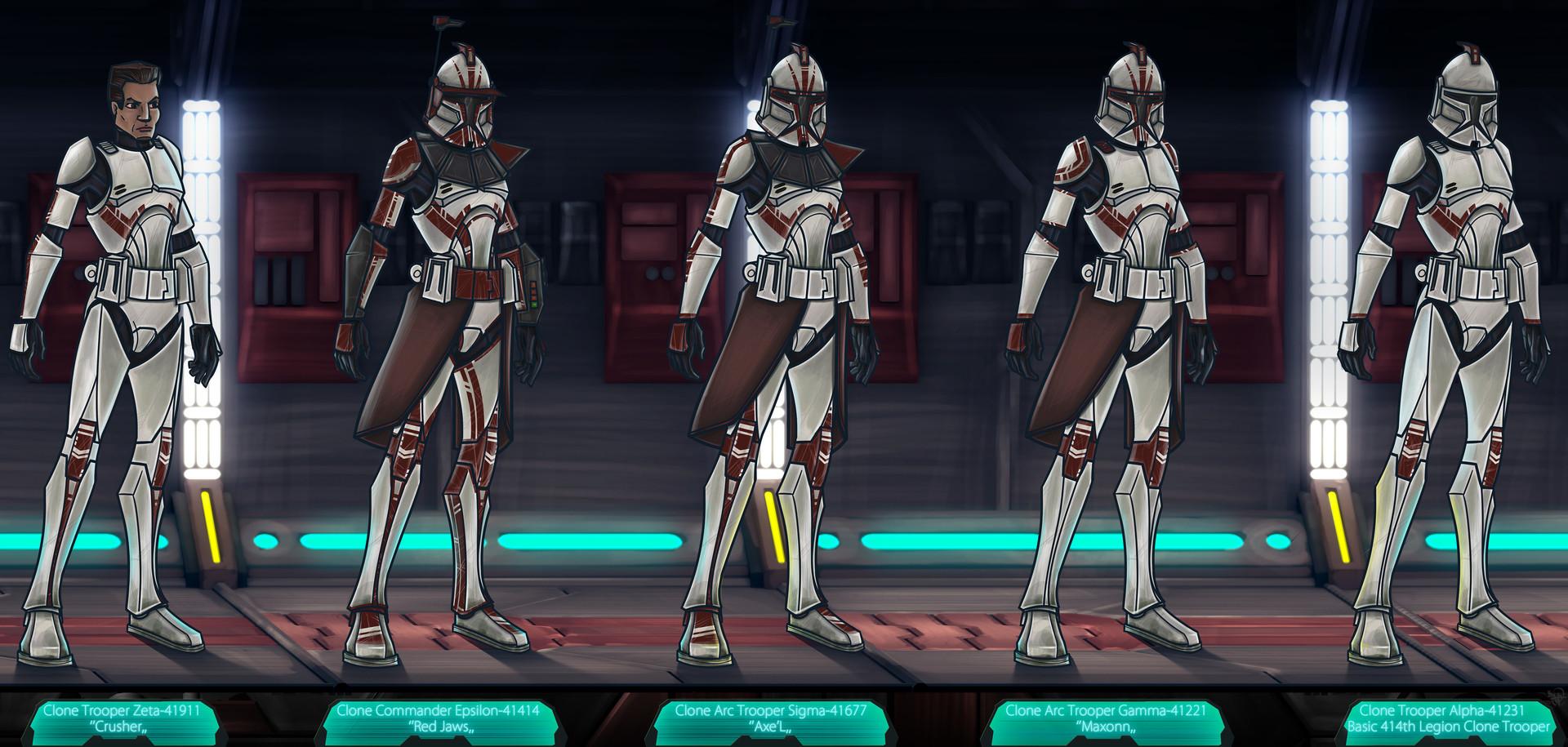 Etienne beschet 414th legion clone troopers