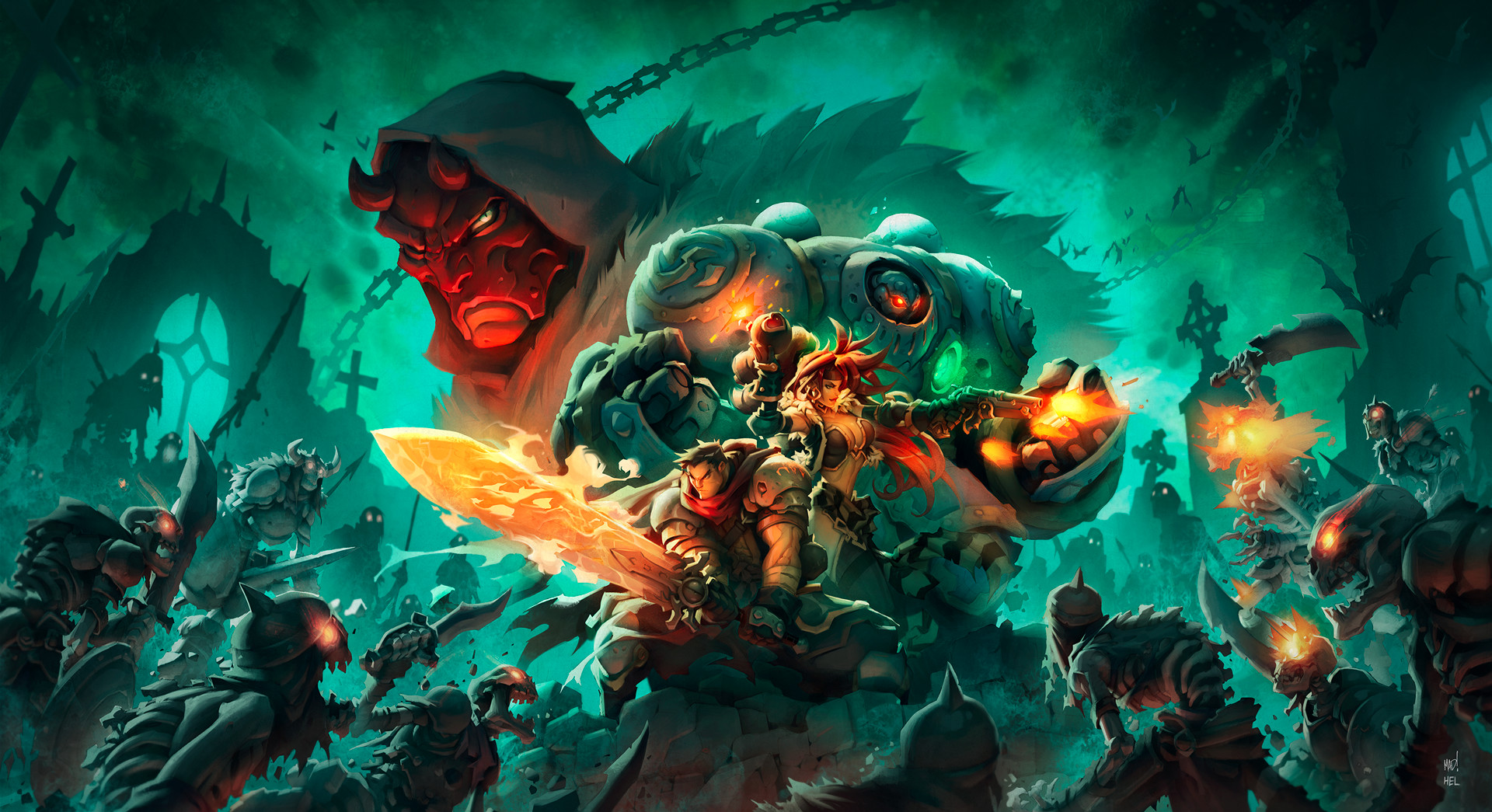 Artstation battle chasers night war key art coloring variant 2 johannes helgeson - Video game live wallpapers ...