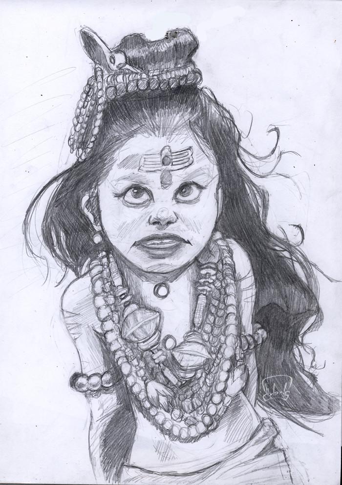 Artstation Little Shiva Sketch Hybris Art