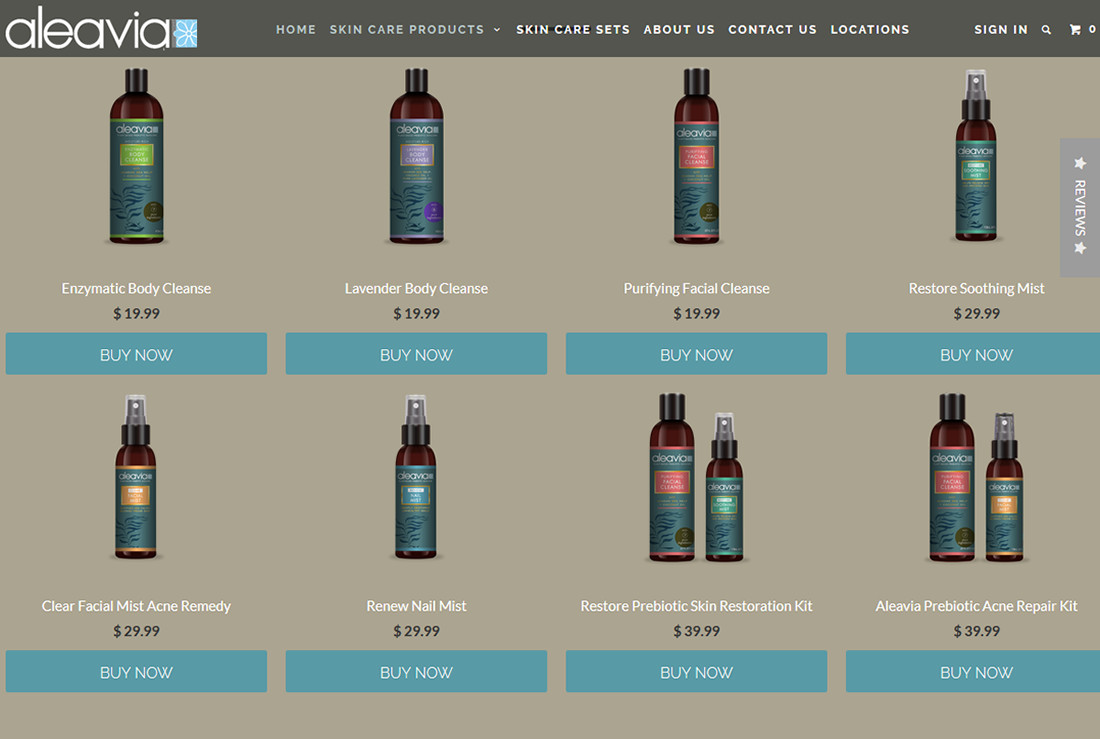 Jeff mcdowall aleavia bottles product page