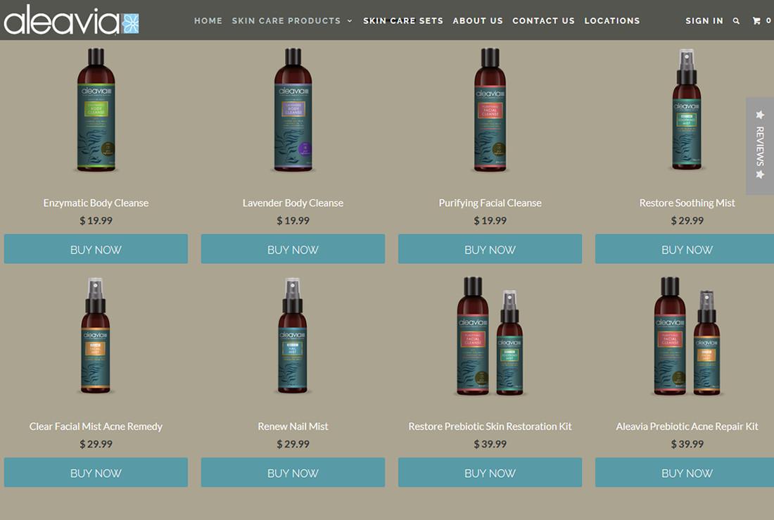 Aleavia product webpage
