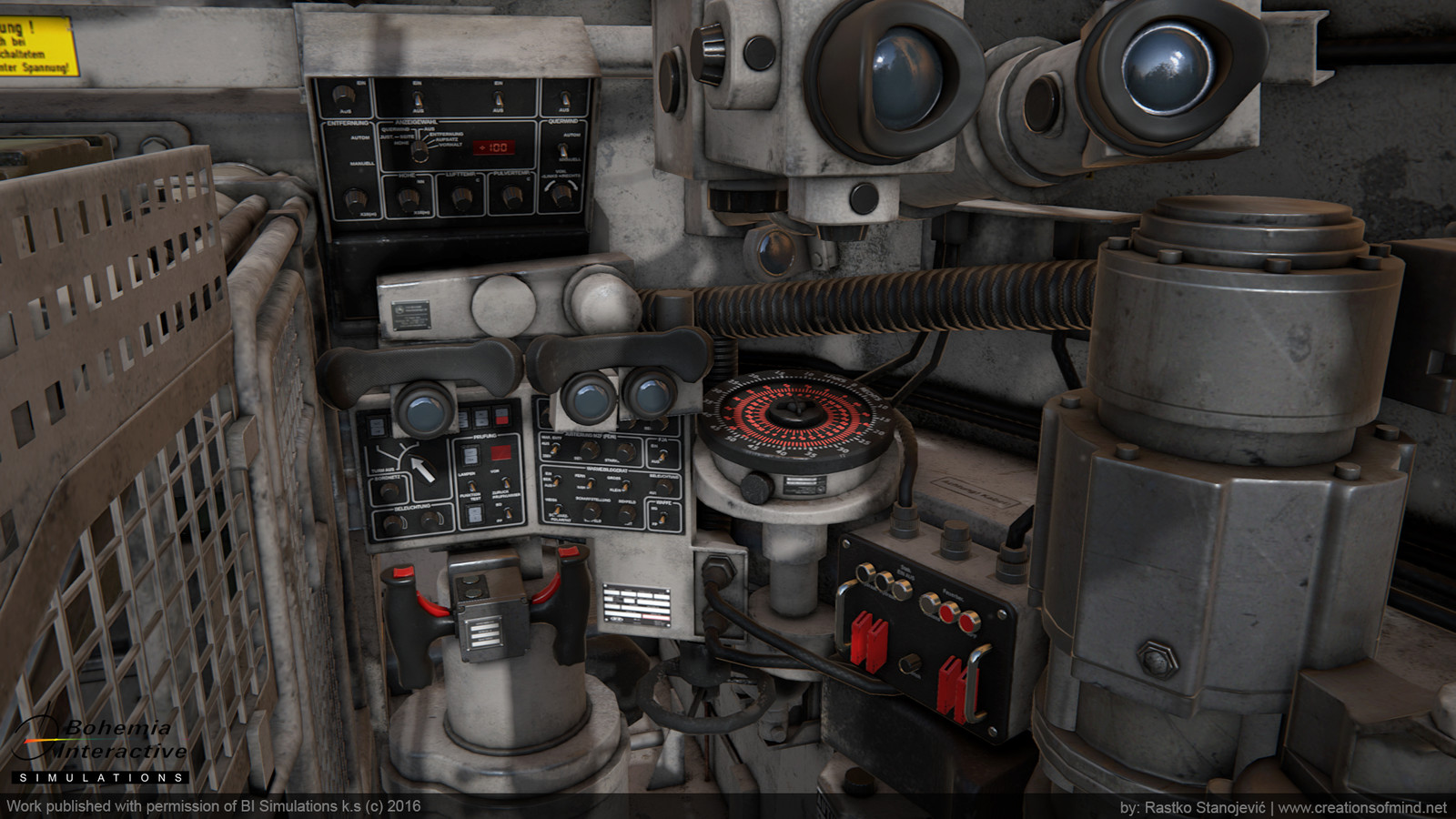 Leopard 1A5 Interior - game model - shot from Quixel