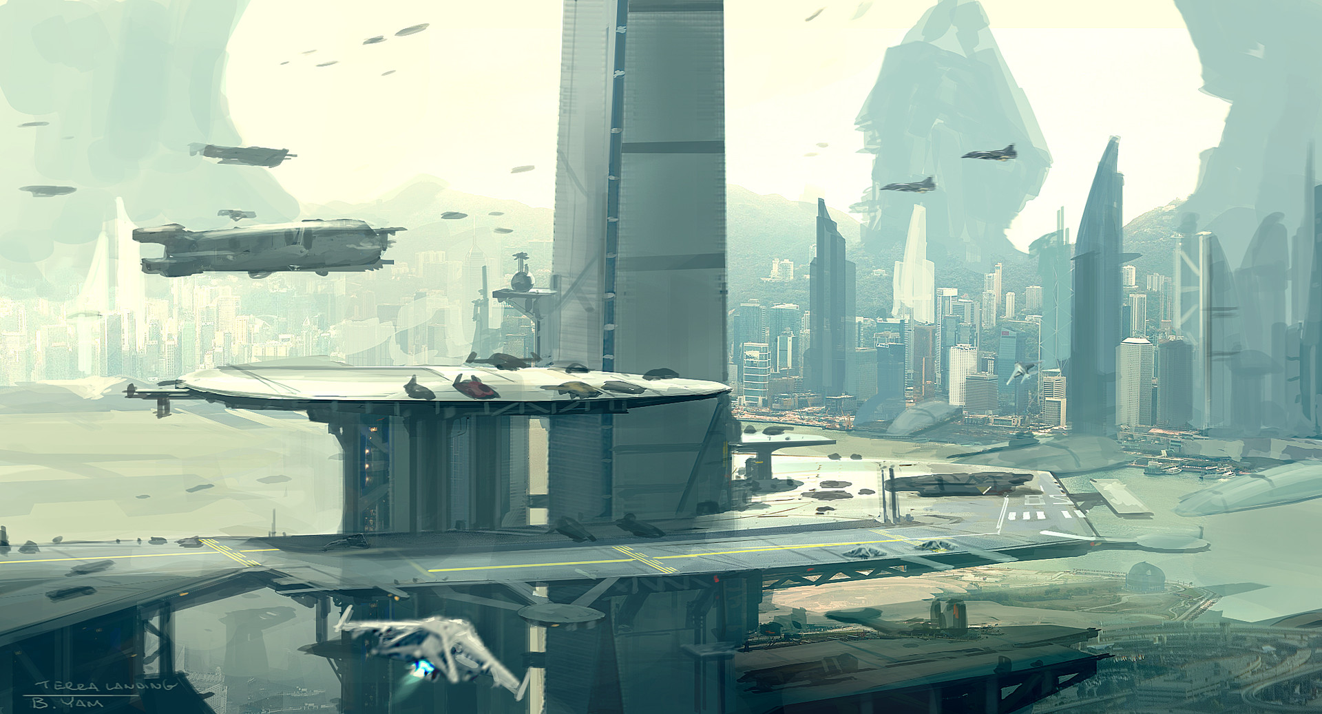 Brian yam terra spaceport sketch d color
