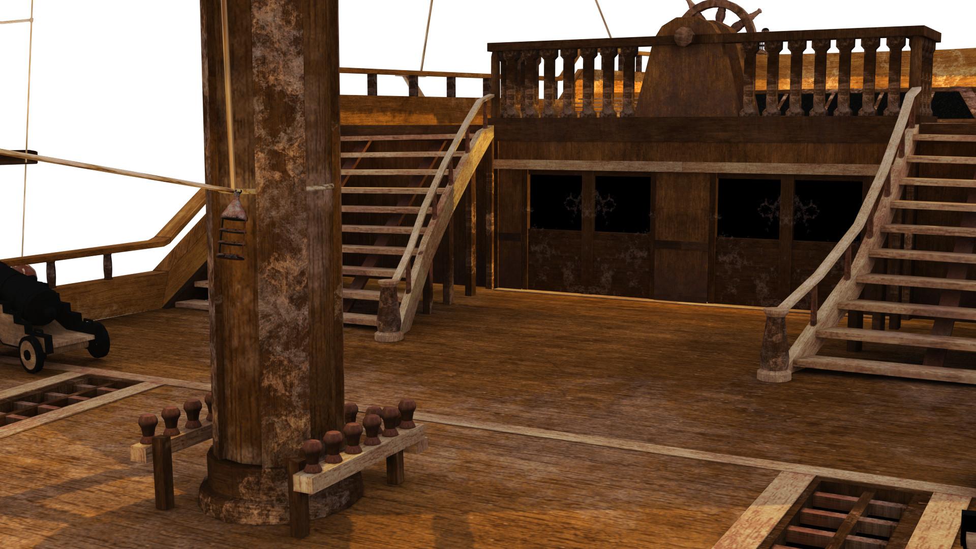 картинка палуба пиратского корабля вторичной