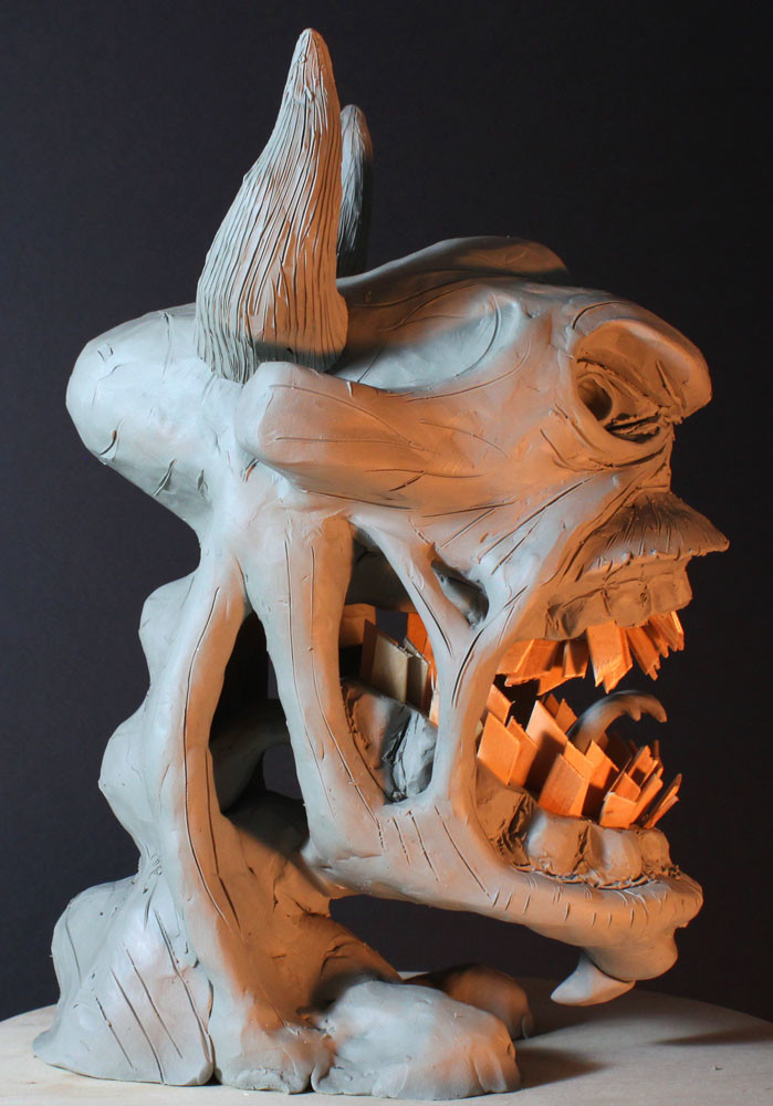 Rob mcdaniel 3dclay demon rage side