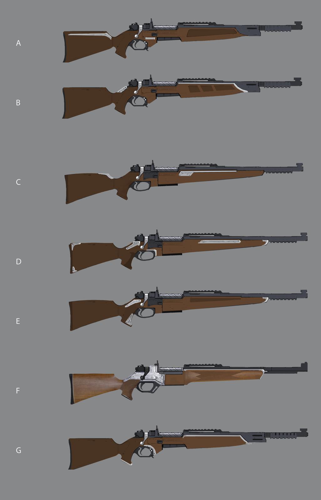 Main character's rifle