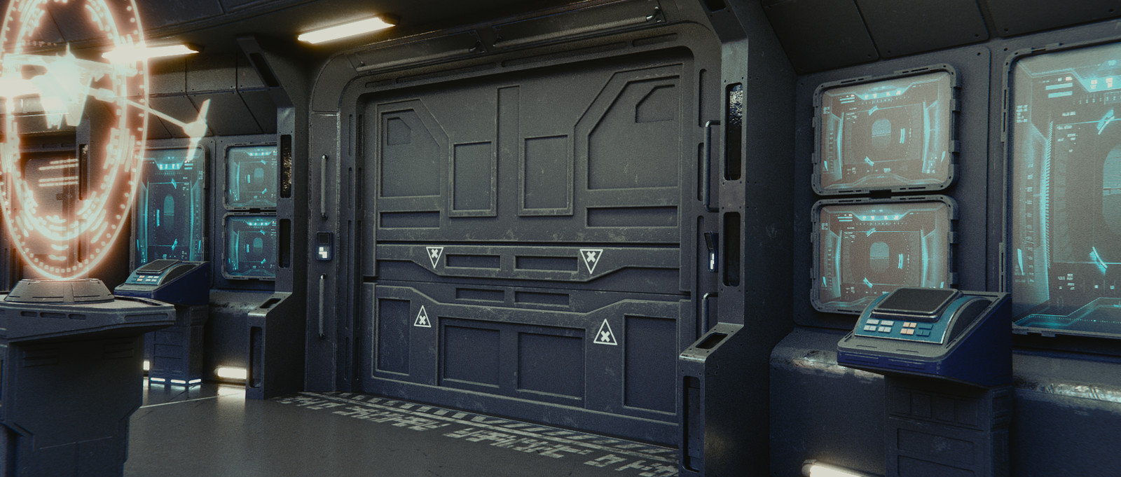 Aft Blast Door Detail
