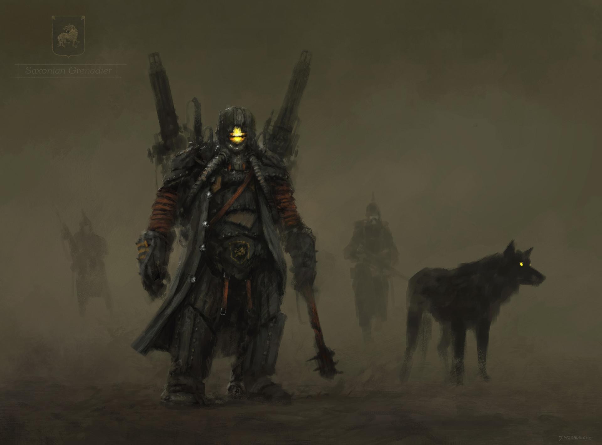 Jakub rozalski unit saxonian grenadiers
