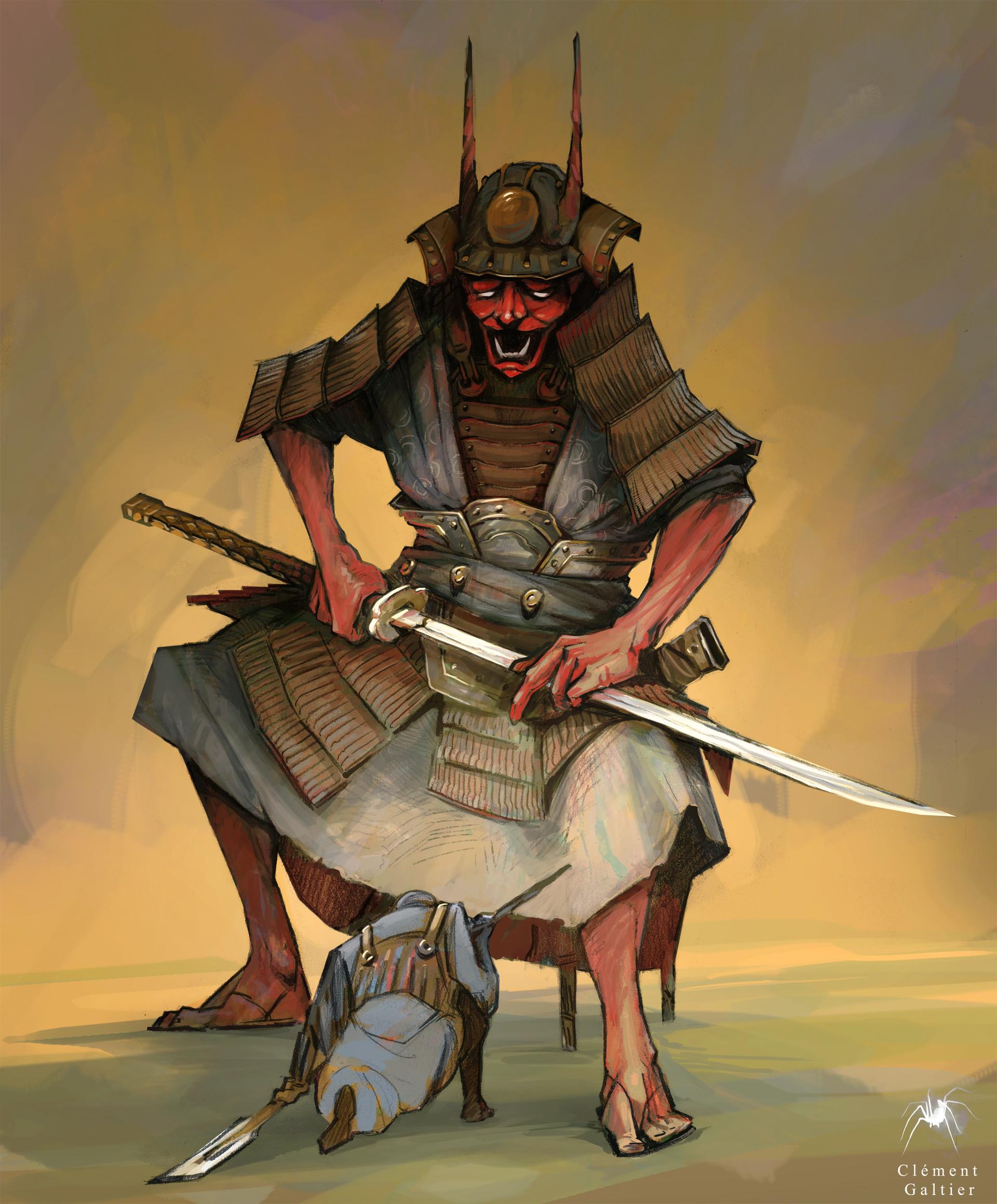 Artstation Oni Samurai N O Z