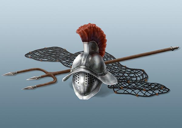 DSA: Gladiator's Helmet and Weapons