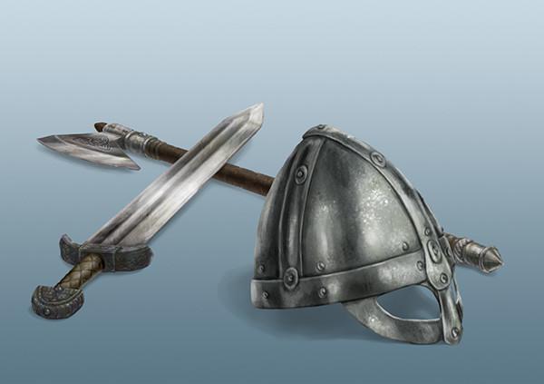 DSA: Thorwaler Helmet and Weapons