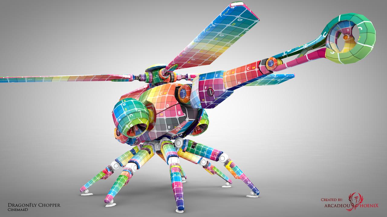 Arcadeous phoenix dragonfly uv mid b