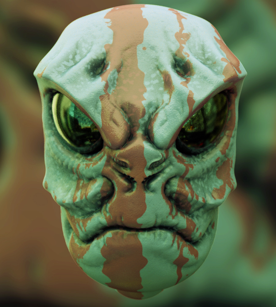 Mike robinson alien c4dsculpt01