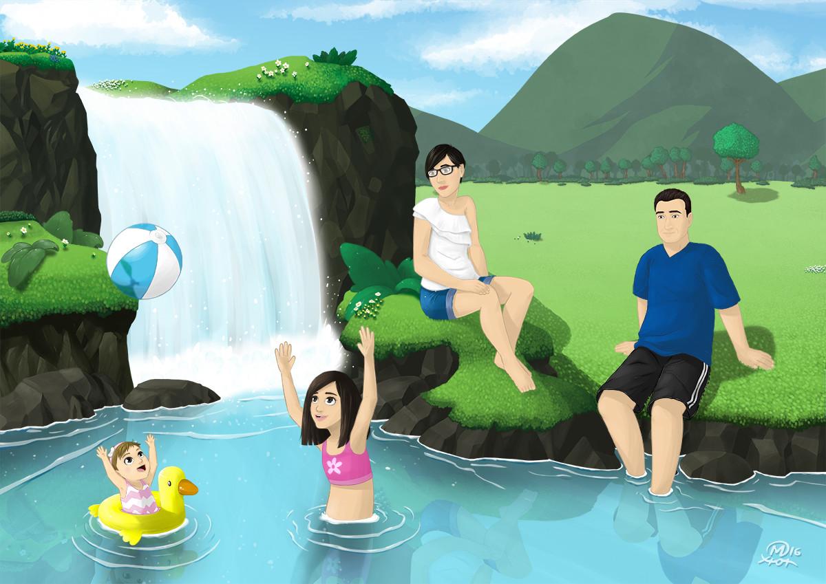 Xion mart susana y familia