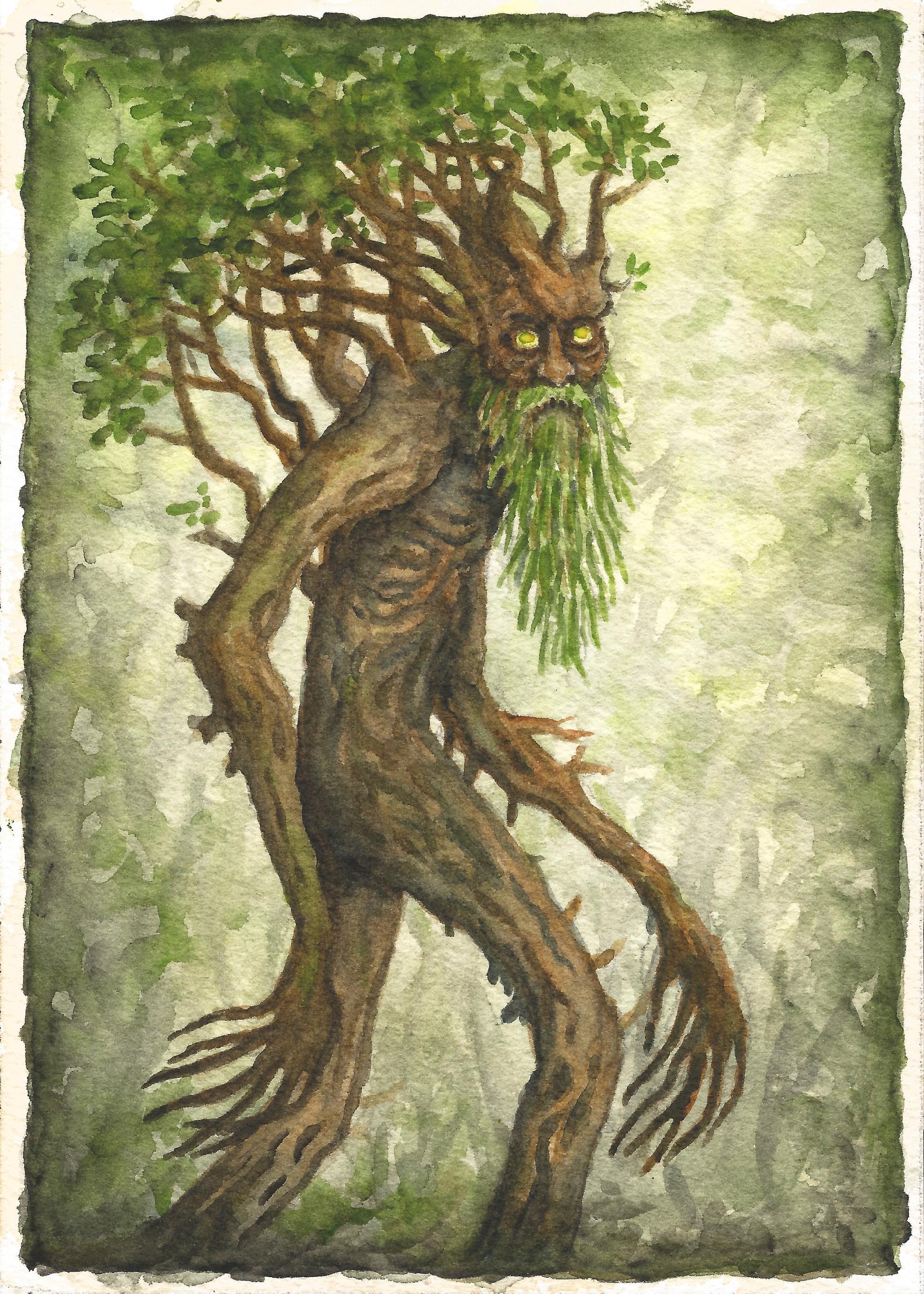 Patrick weck lotr 3 treebeard print 2