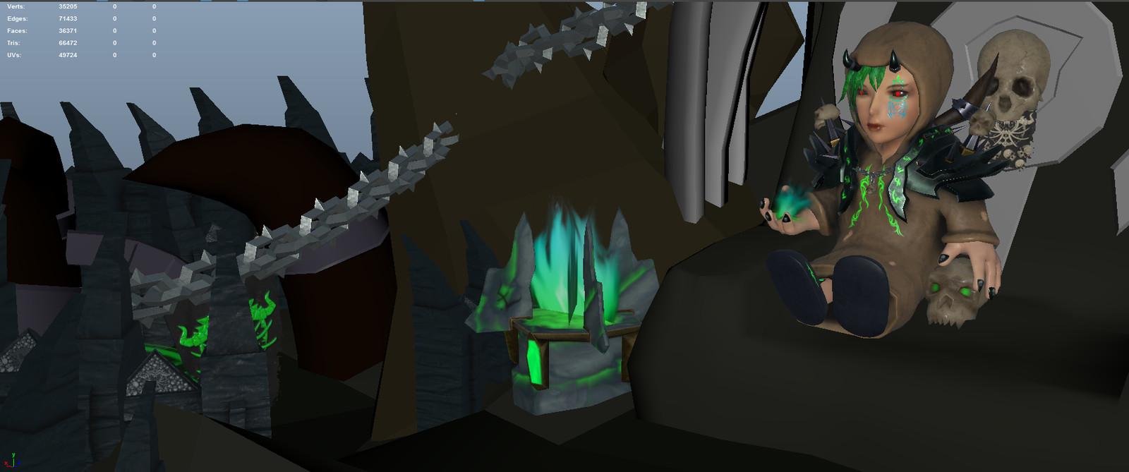 In scene with update