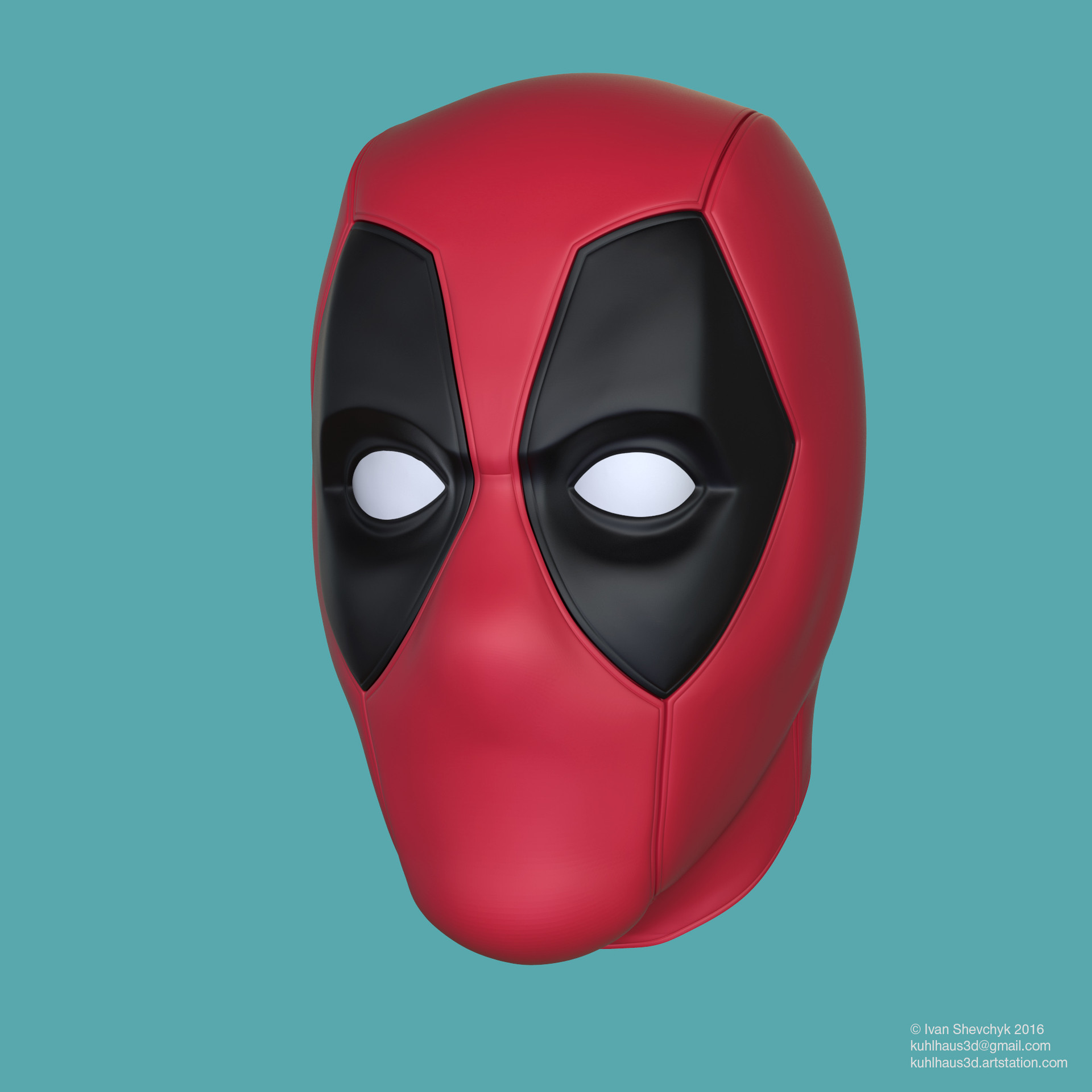 Ivan Shevchyk - Deadpool mask for 3d printing