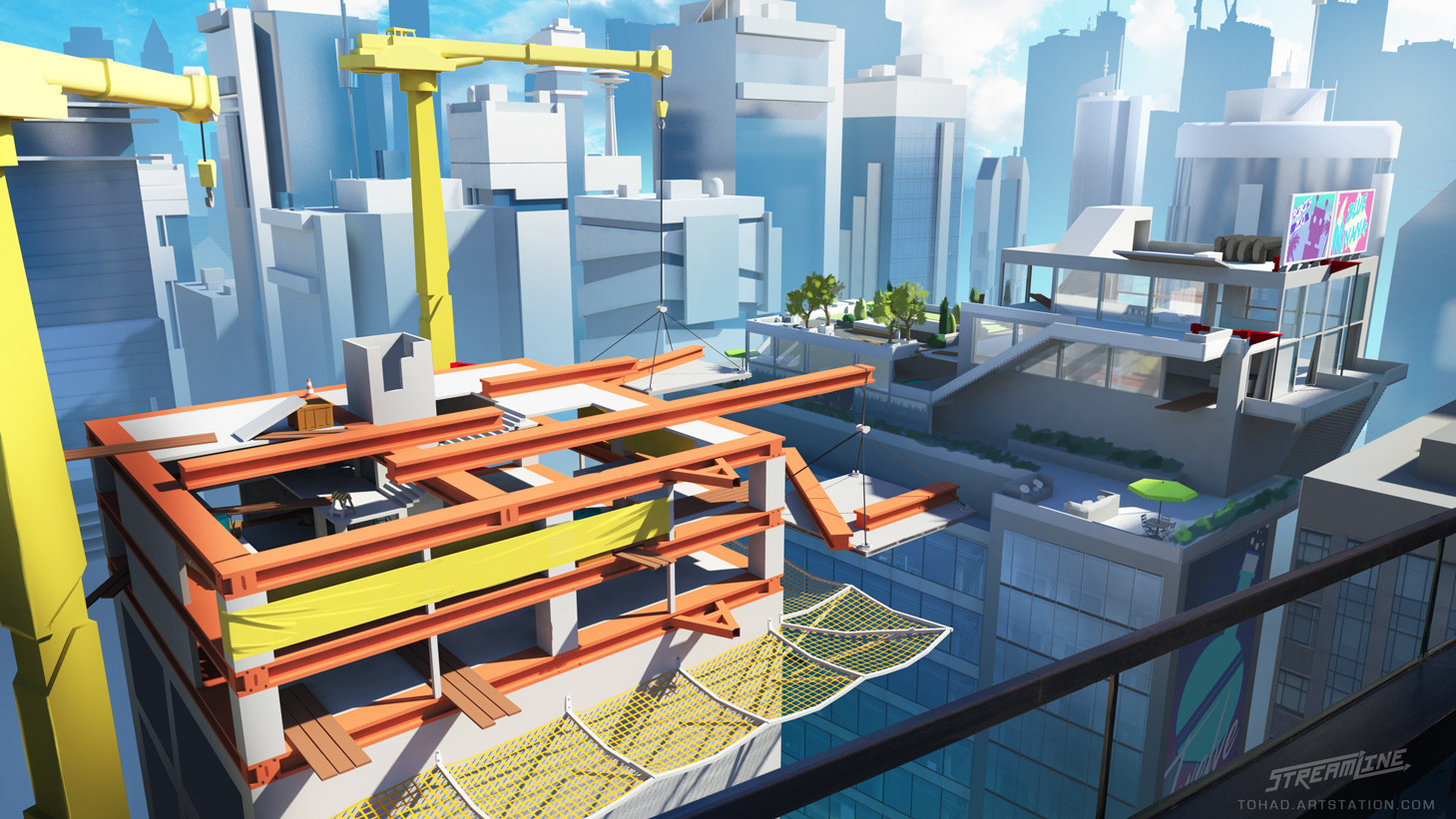 Streamline concept-art : high rise