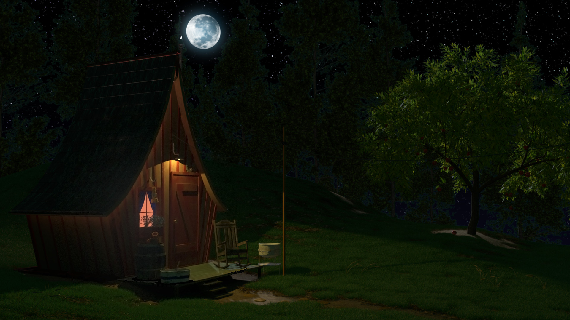 Thomas fraser night cabin