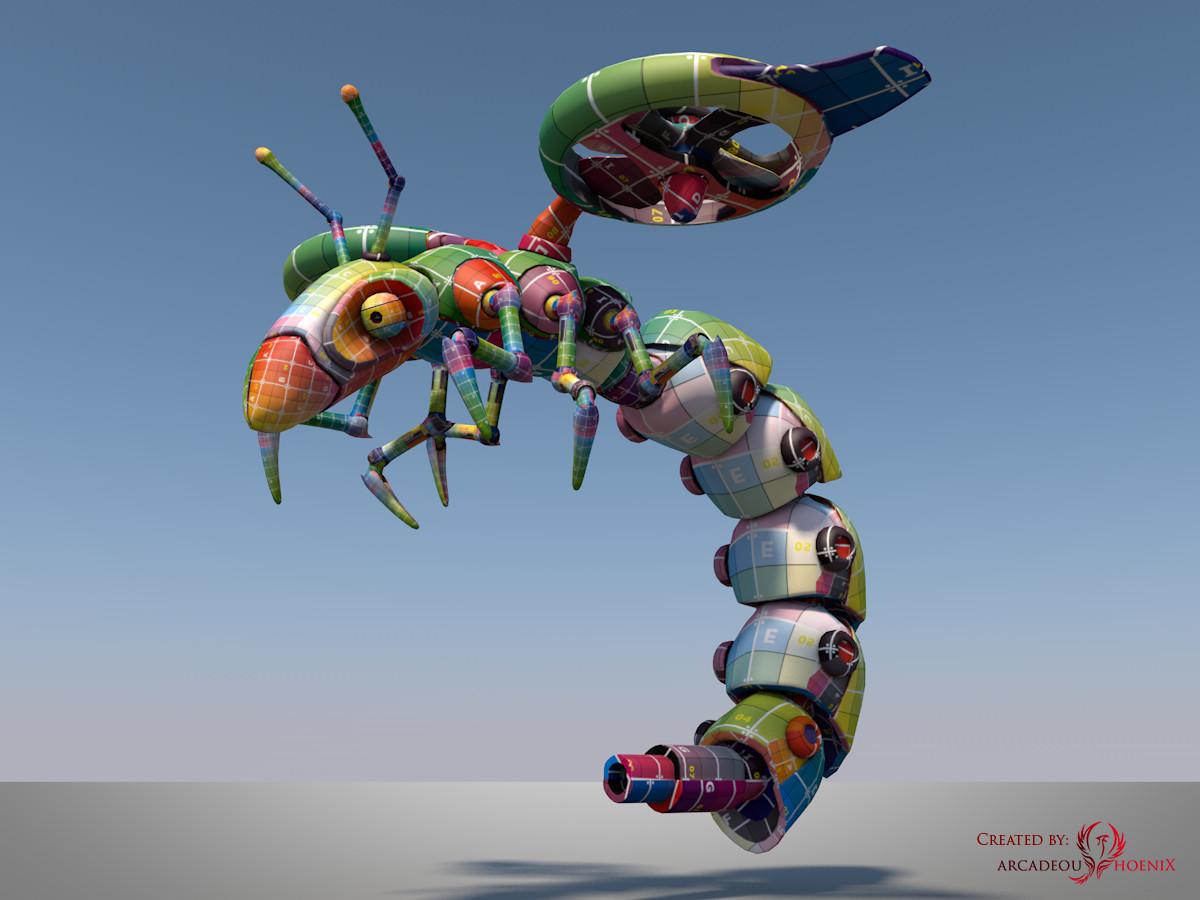Arcadeous phoenix surveillance wasp complete uv mapped b