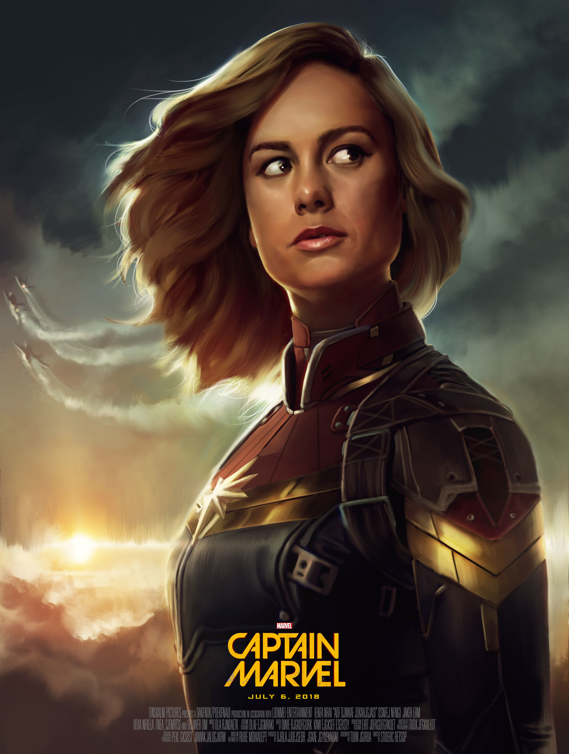Dave keenan captain marvel movie poster