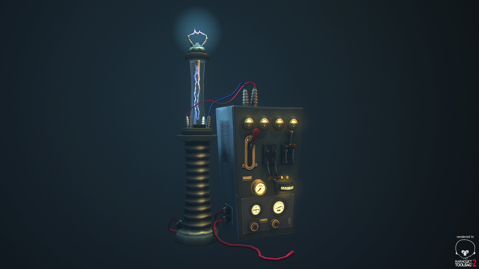 Tesla's Lab - This is the first of a set of mad scientist props. More to come!
