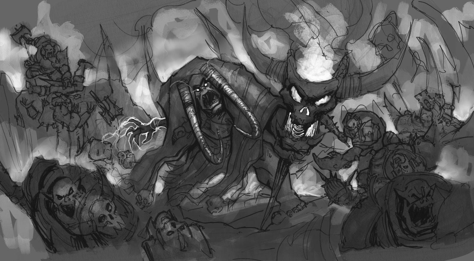 b&W rough sketch