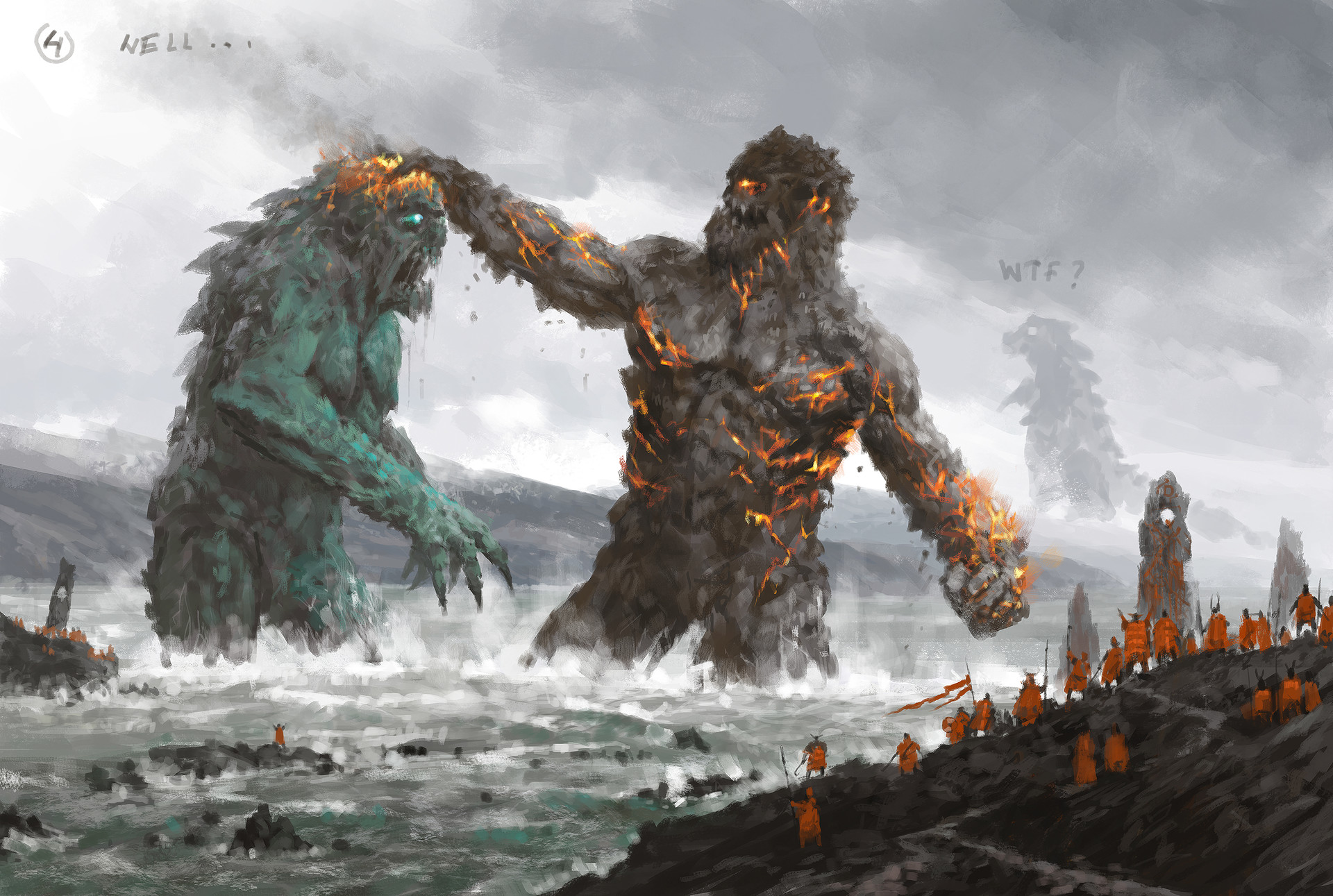 Jakub rozalski ancients conceptart 05process4