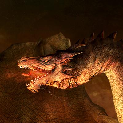 Pablo olivera dragon concept color alas abiertas v02