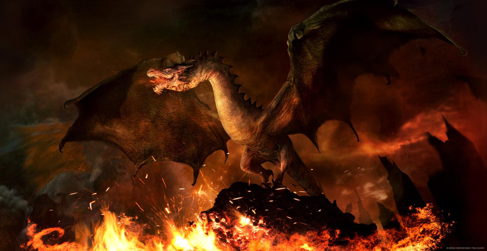 Dragon, ( Wyvern sketch Zbrush + Photoshop )