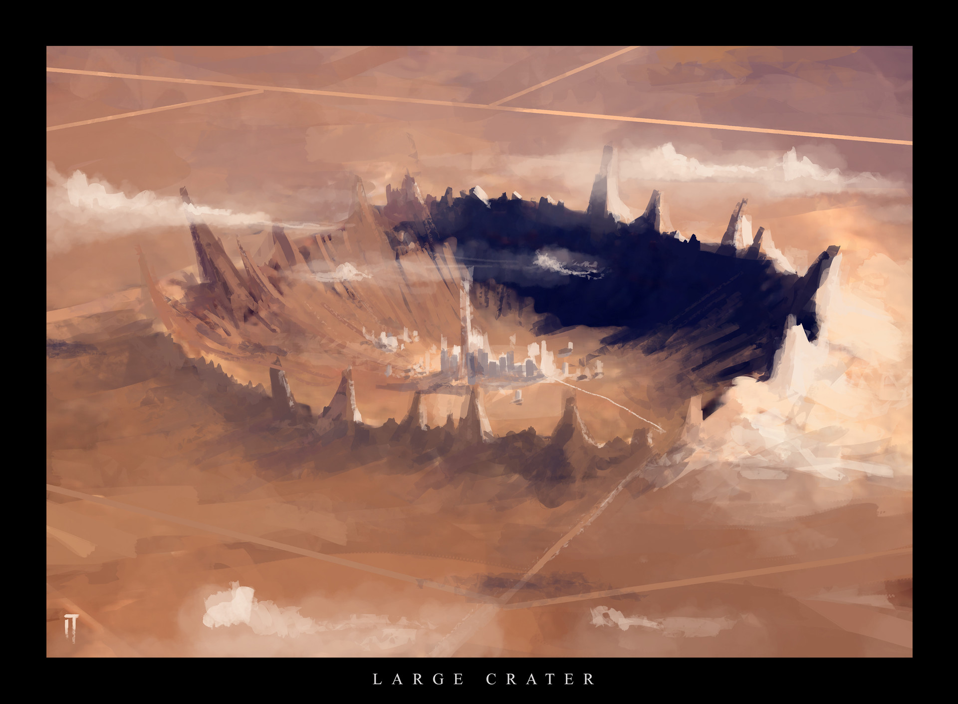 Ismail inceoglu large crater daily spitpaint