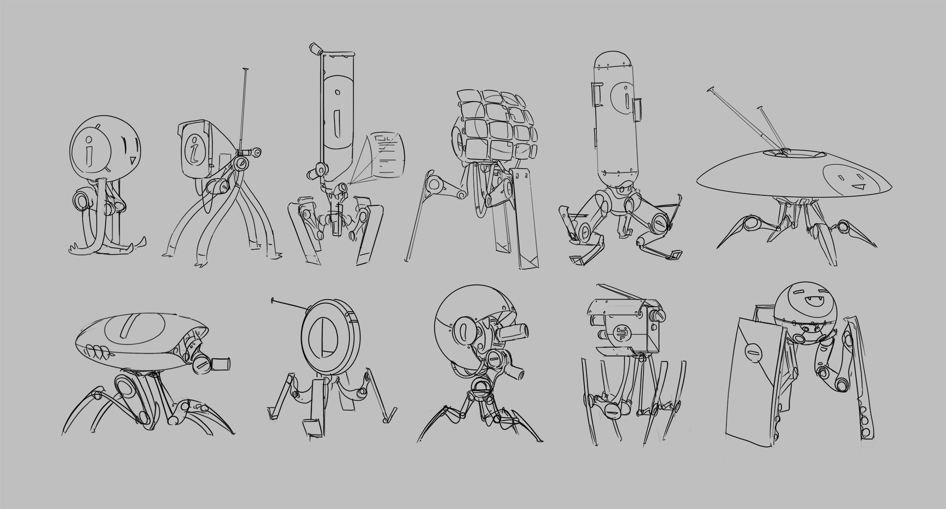 Samuel herb robot sketches