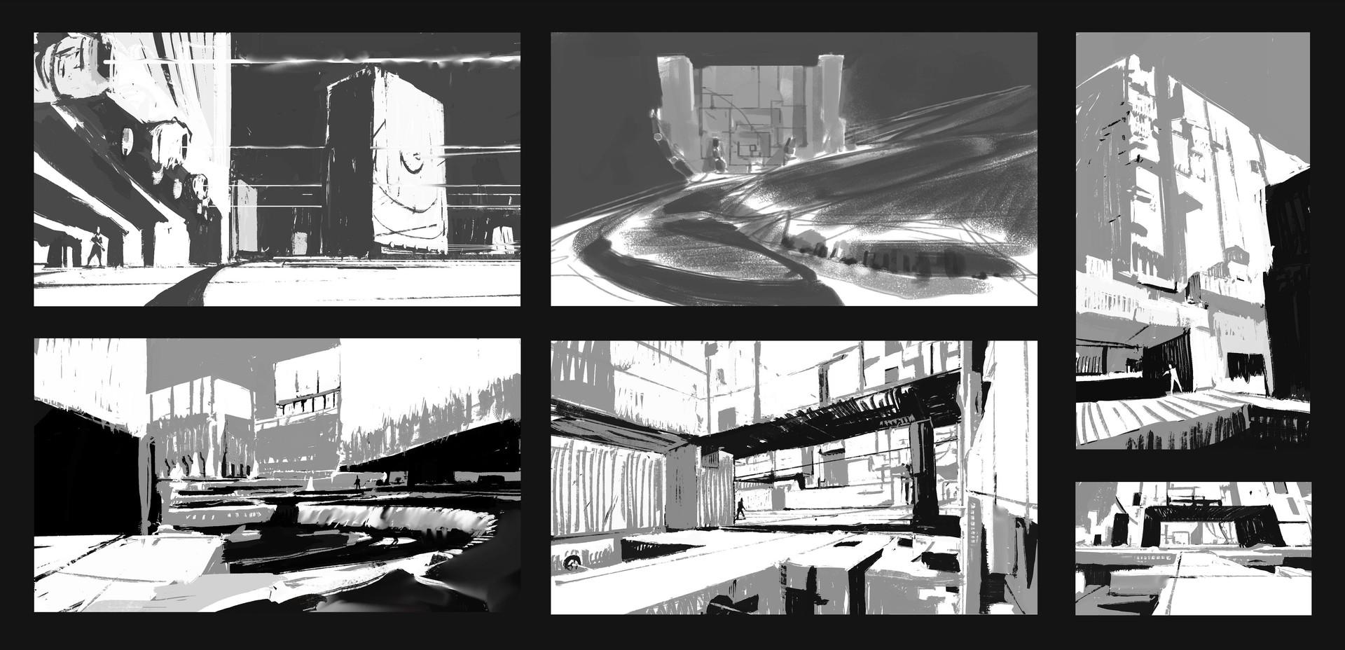 Compo & design sketches.
