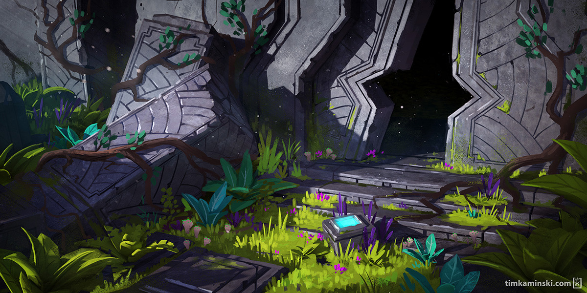 Overgrown  Dungeon Entrance