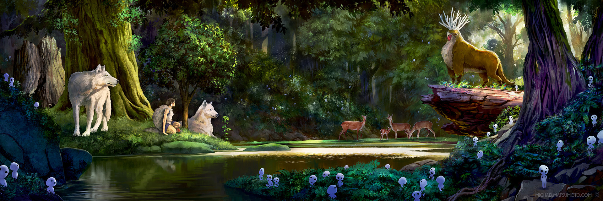 Artstation The Princess And The Forest Spirit Michael Matsumoto