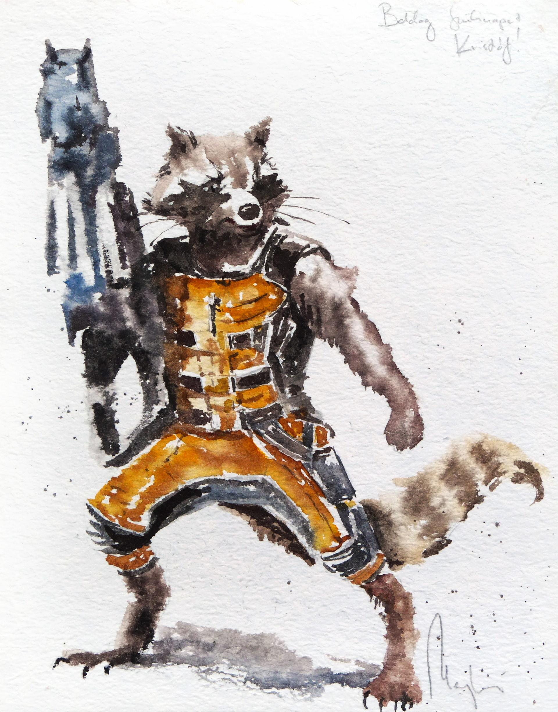 Saby menyhei rocket raccoon 1