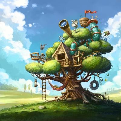 Tomek larek tomek larek tree house cover game1