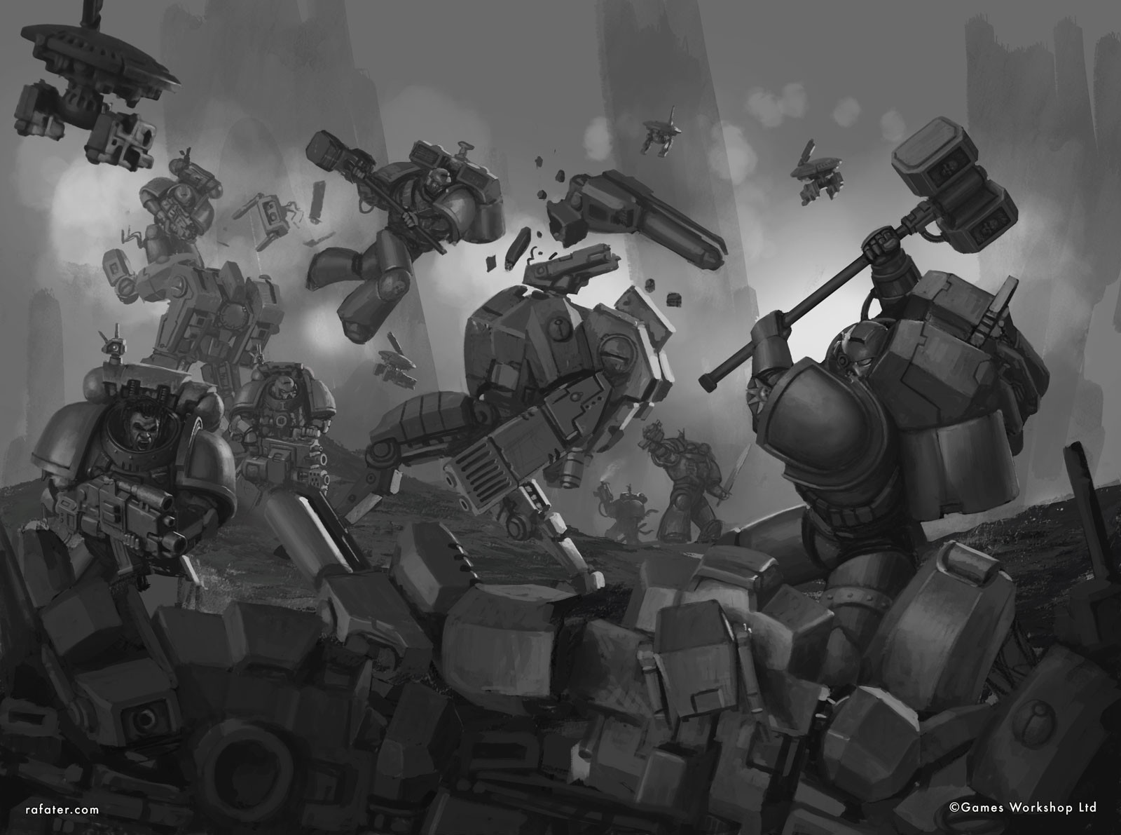 Rafael teruel deathwatch vs taubattlesuits values by rafater
