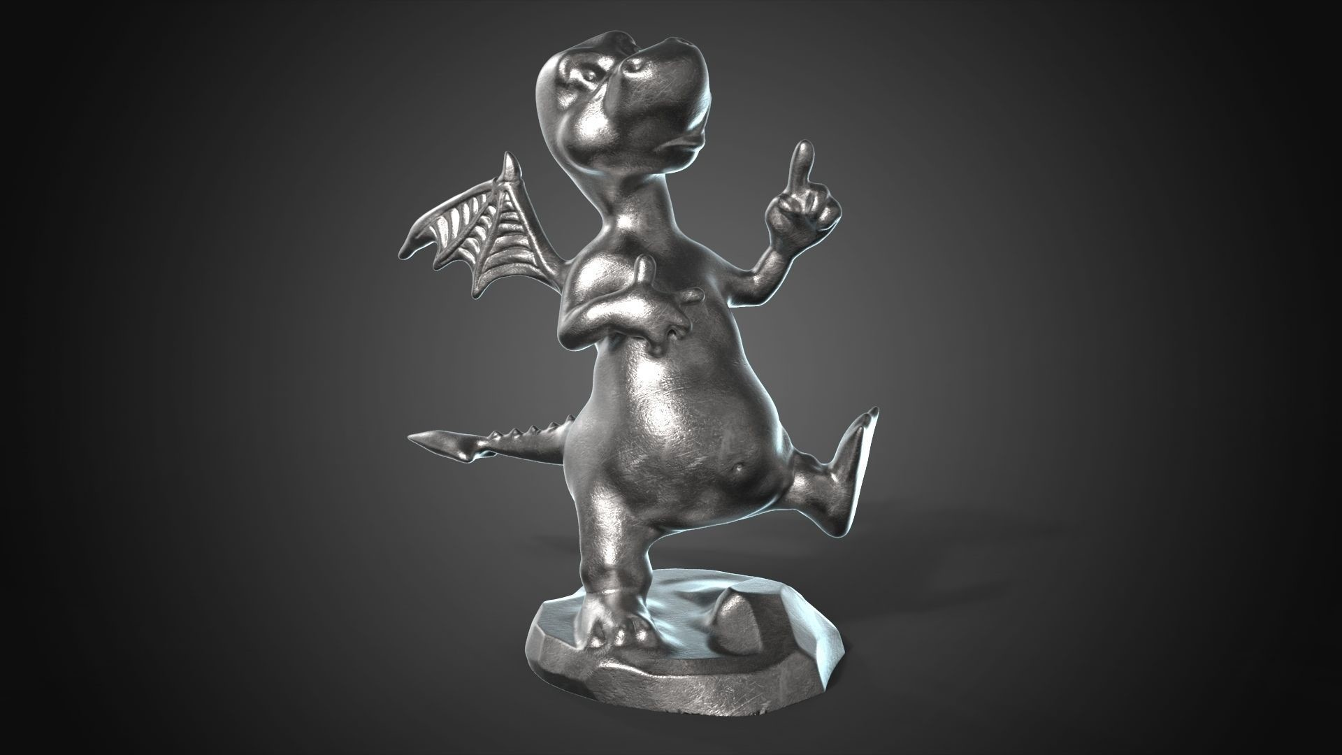 Andrew krivulya dragon for jewerly 3d print 30mm 3d model stl 642be6b3 3d6a 46b6 9912 776279c73ac1