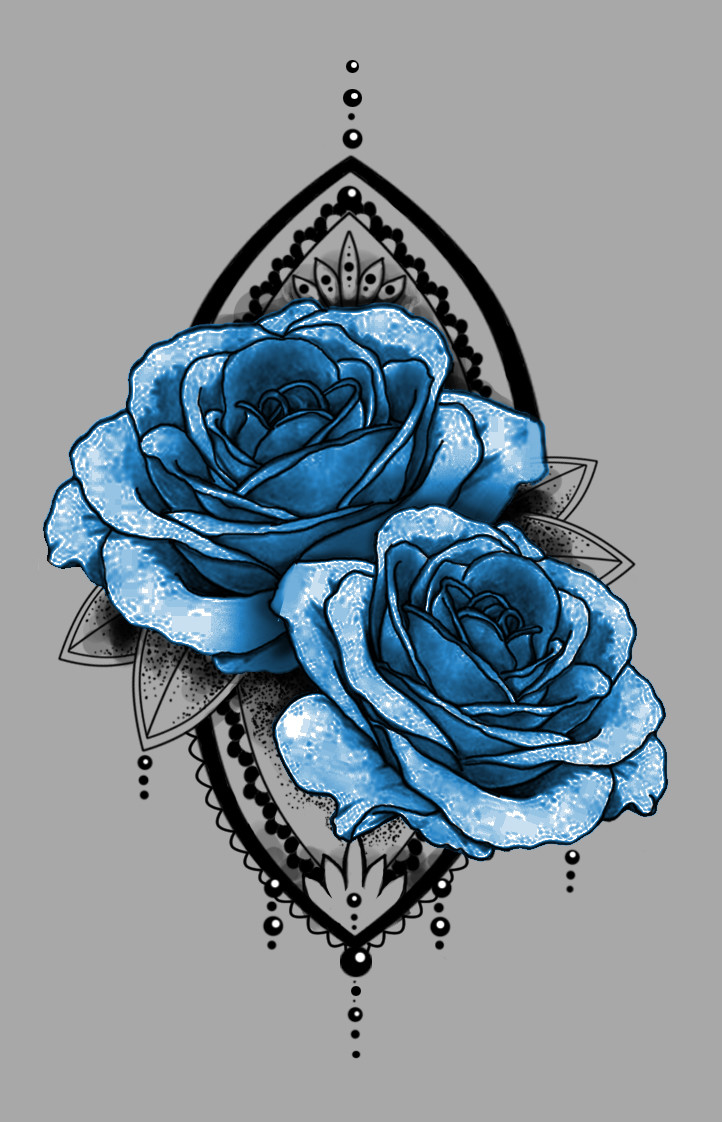 ArtStation , Tattoo sketch (roses), Ich Merke