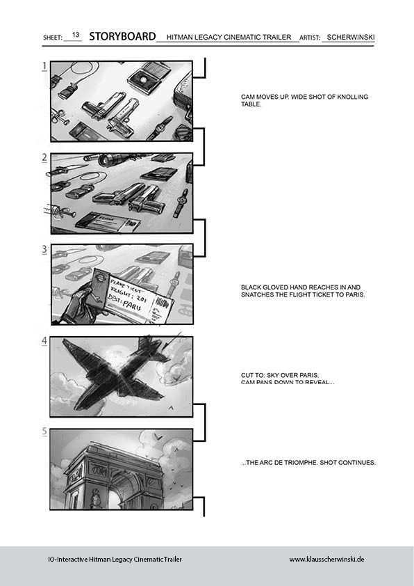 Klaus scherwinski hitman storyboards legacy trailer14