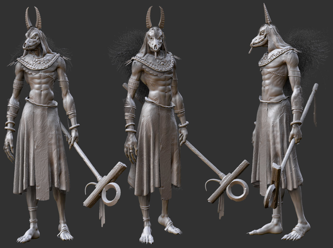 Fabio wasques anubis wip pose by fabio wasques